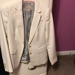 Tan/cream Banana Republic suit jacket